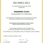 Certificate INGENERIC Energy